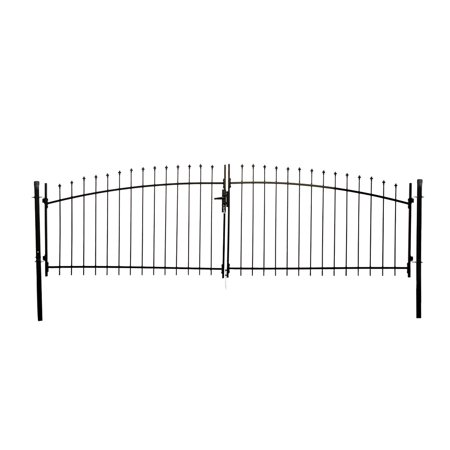 ALEKO DIY Arched Steel Dual Swing Driveway Gate Kit with Lock - ATHENS Style - 13 x 5