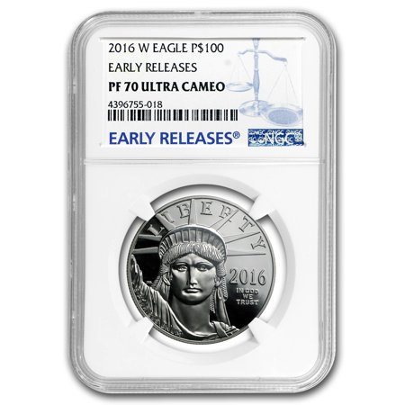 2016 W 1 Oz Proof Platinum American Eagle Pf 70 Ngc  Er