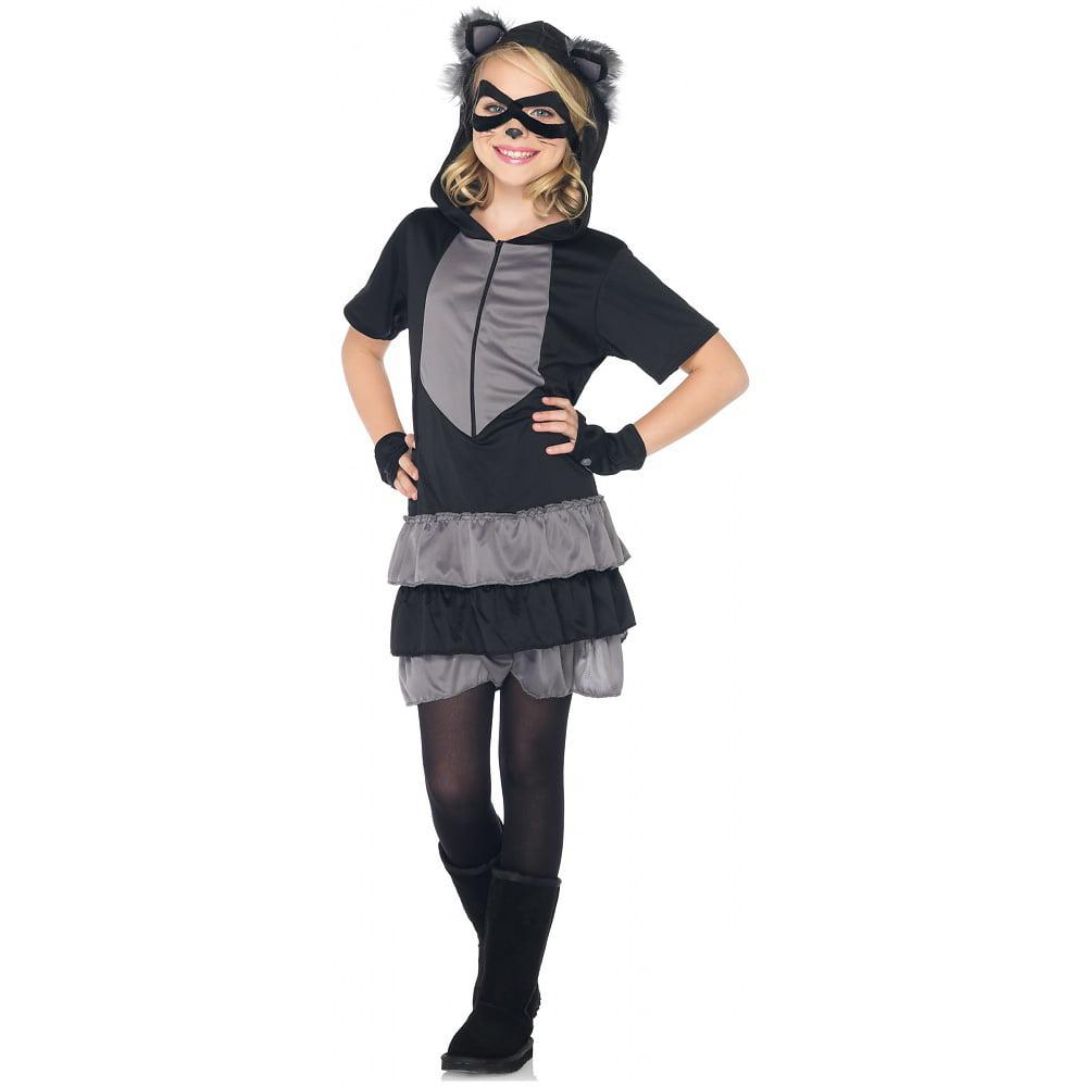 Leg Avenue LAC48173-S Girls 3 Piece Rascal Raccoon Costume SMALL