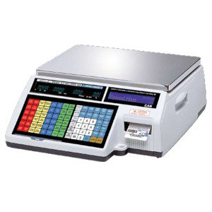 Cas Label Printing Scale (CAS CL-5000B (30lb) Label Printing Scale **Full year Guarantee** )
