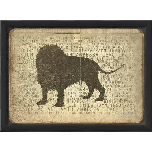 The Artwork Factory Lion Silhouette Framed Graphic Art