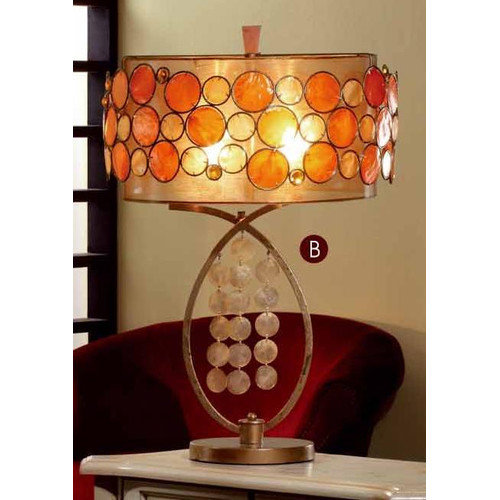 OK Lighting 28'' H Table Lamp with Drum Shade