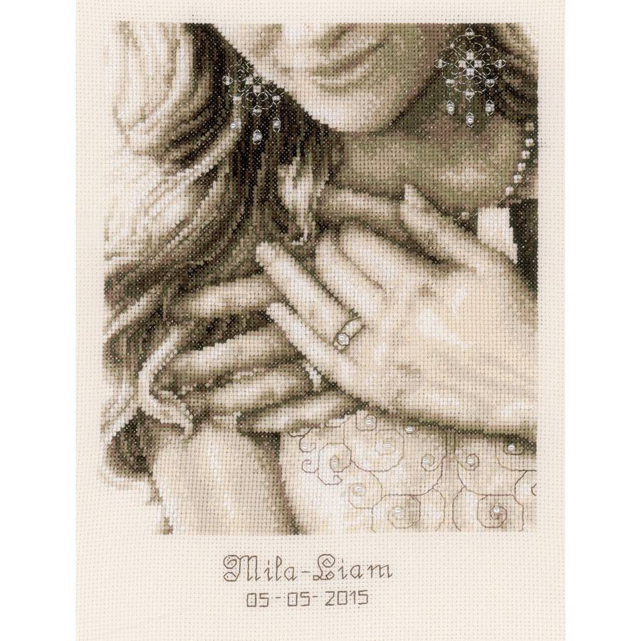 """Yes, I Do...Wedding Record On Aida Counted Cross Stitch Kit, 8.75"""" x 11.5"""", 14 Count"""
