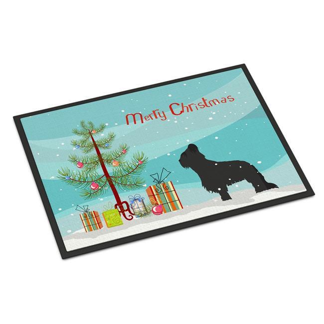 Carolines Treasures BB2944MAT Briard Merry Christmas Tree Indoor or Outdoor Mat 18x27 - image 1 de 1