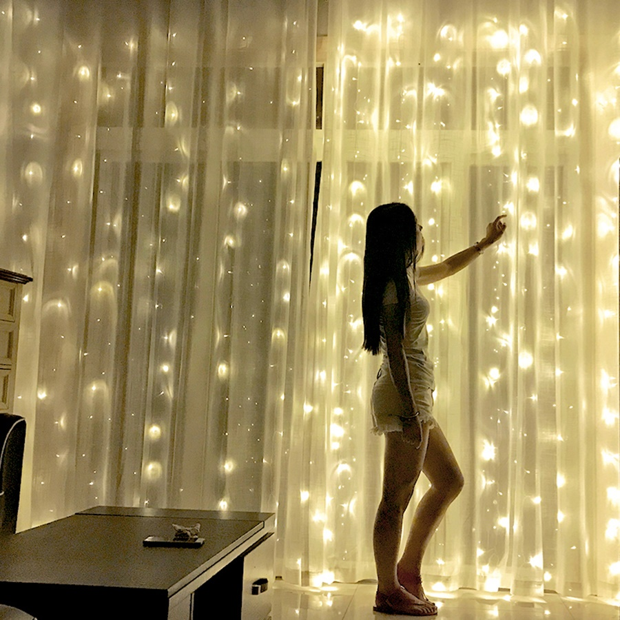 Urhomepro Curtain String Light 1800 Led Christmas String Lights Bedroom Decor String Lights W 8 Modes Led String Fairy Lights For Indoor Outdoor Wedding Party 59 X 9 8ft Warm White W4093 Walmart Com