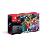 Nintendo Switch Gaming System with Mario Kart 8 Deluxe, Neon Red & Blue