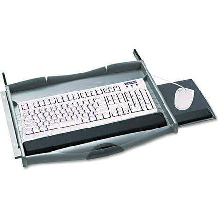 Under Desk Keyboard Tray Walmart Safco Premium Keyboard Drawer Charcoal