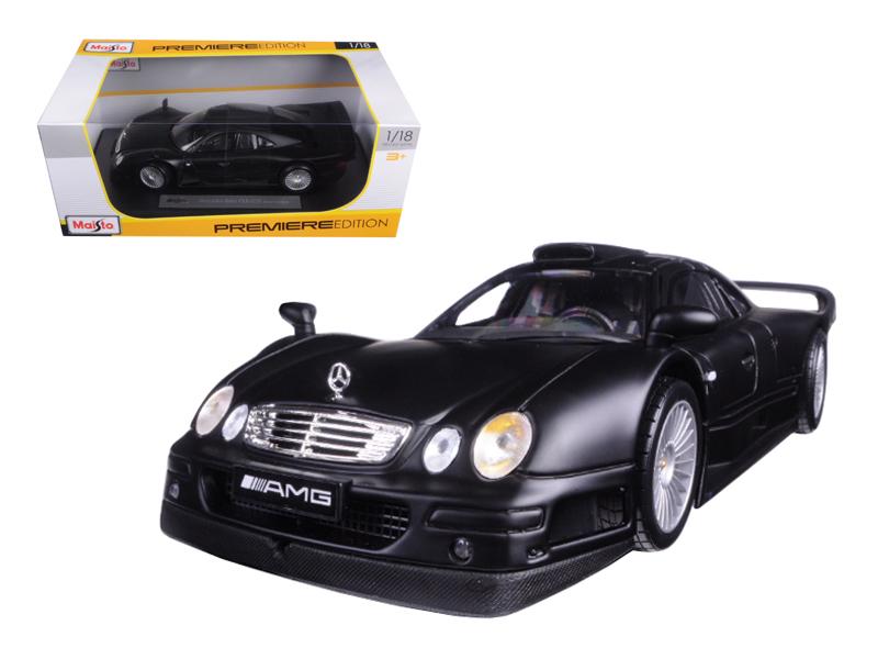 Mercedes CLK GTR Street Version Matt Black 1 18 Diecast Model Car by Maisto by Diecast Dropshipper