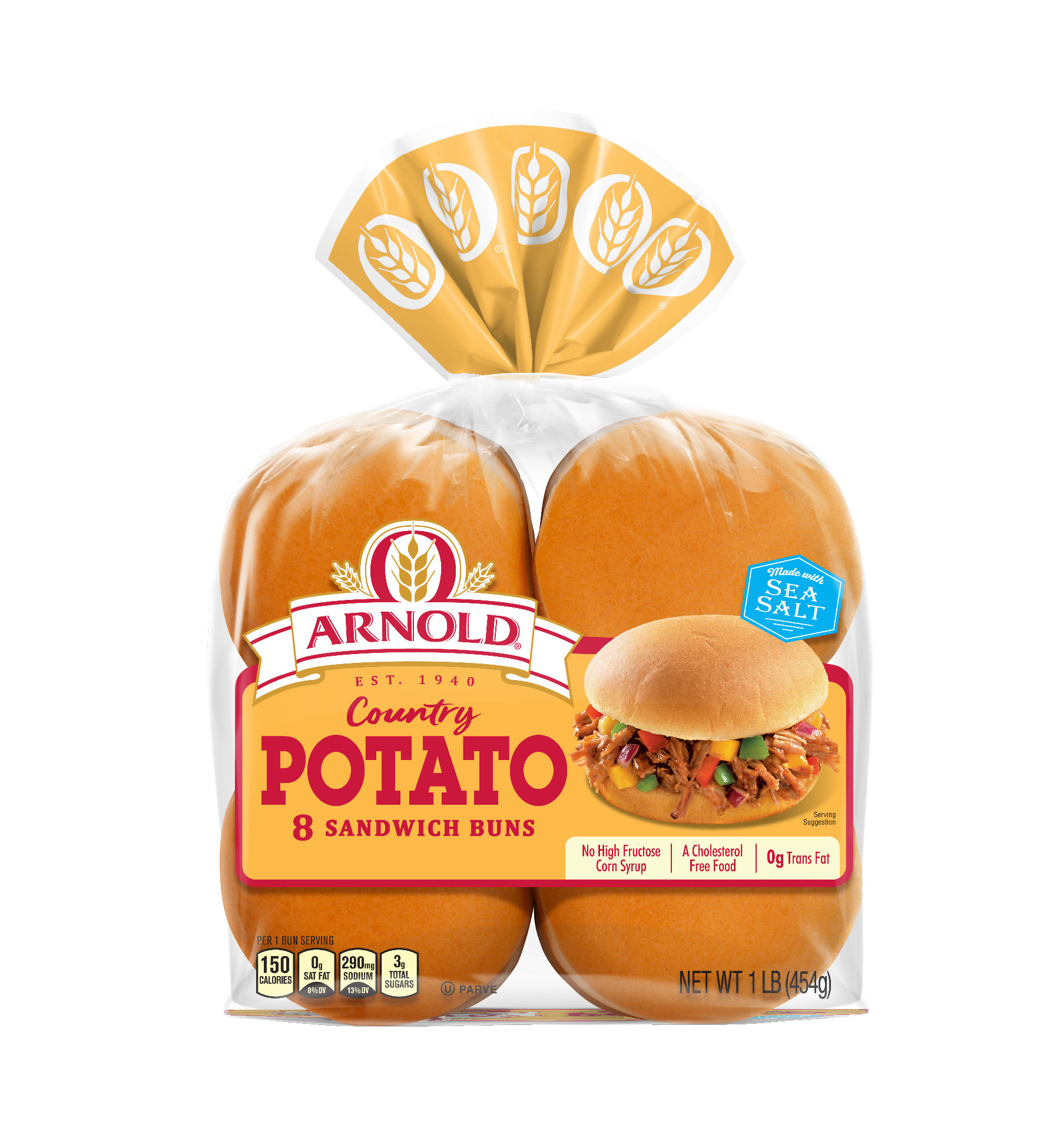 Arnold Country Potato Sandwich Rolls 8 count 15 oz