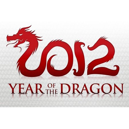 Dragon Art Poster - 2012 Year of the Dragon Silver Poster Poster Wall Art