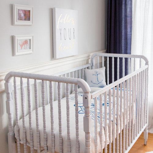 Atelier  dele Biplane 4 Piece Organic Baby Down Duvet Crib Bedding Set