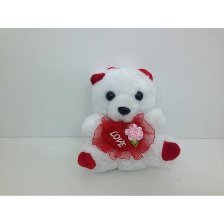 - Mini Plush Teddy Bear with Love Heart Valentine Gift - 5.5
