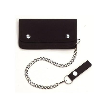 Black Trucker / Biker Wallet with Chain and Snap Belt Loop