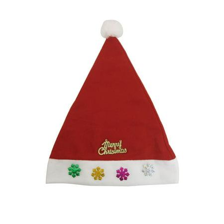 Unique Bargains  Snowflake Letters Detail True Red Xmas Christmas Santa Claus Hat Cap 5 Pcs (Unique Christmas Hats)
