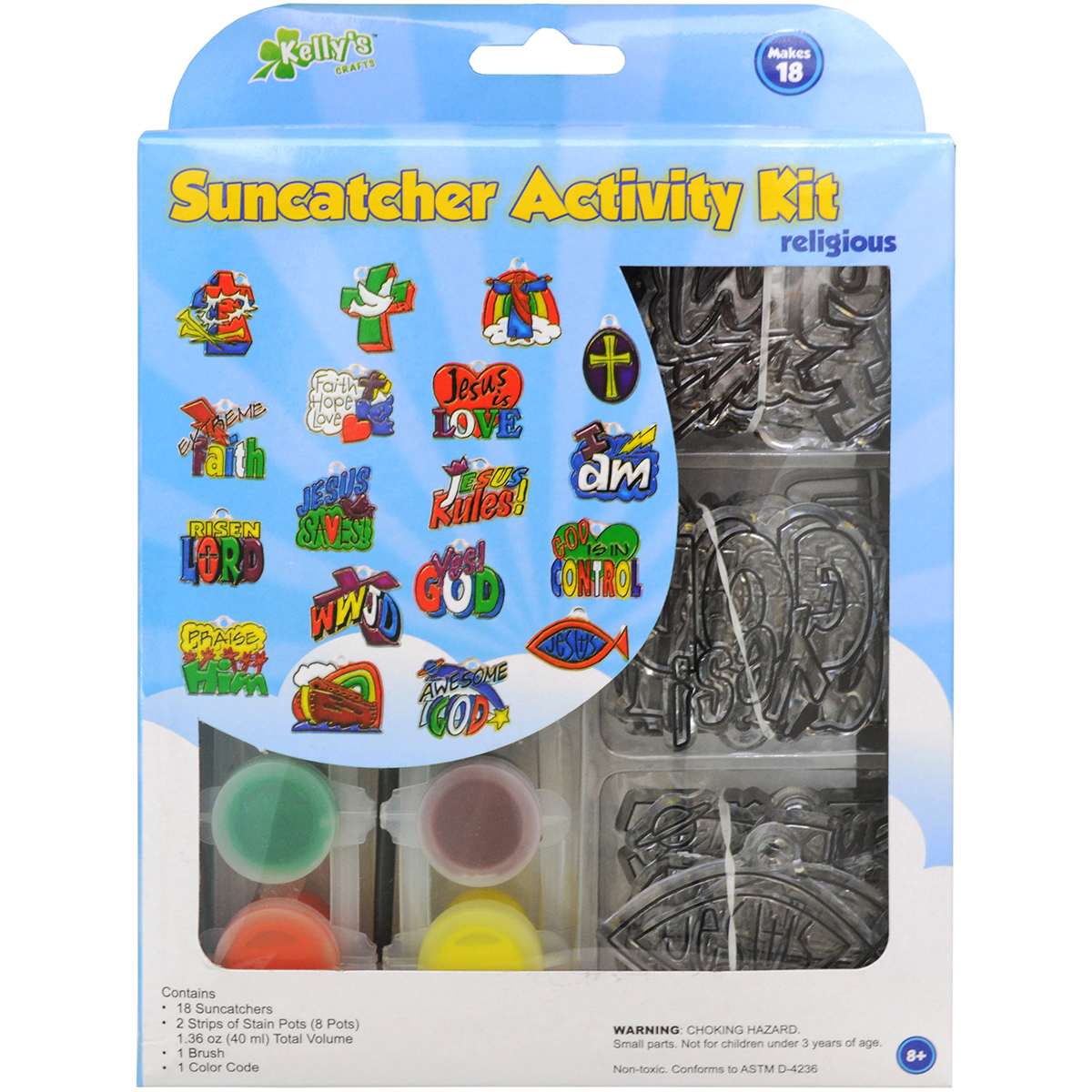 New Image Group Suncatcher Group Activity Kit, Religious, 18-Pack