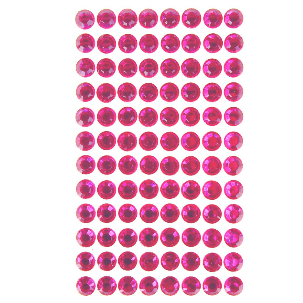 Round Adhesive Diamond Gem Stickers, Garden Rose, 10mm