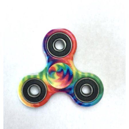 Hand Dye (Tri Hand Spinner Fidget Spinners Fire Tye Dye Edition Limited Design Toy Stress Reducer Ball Bearing - May help with ADD, ADHD, Anxiety, and Autism Adult Children  )