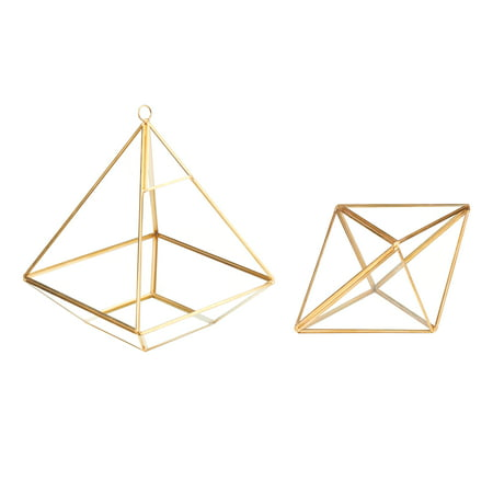 Better Homes & Gardens 2-Piece Brass Geo Terrarium
