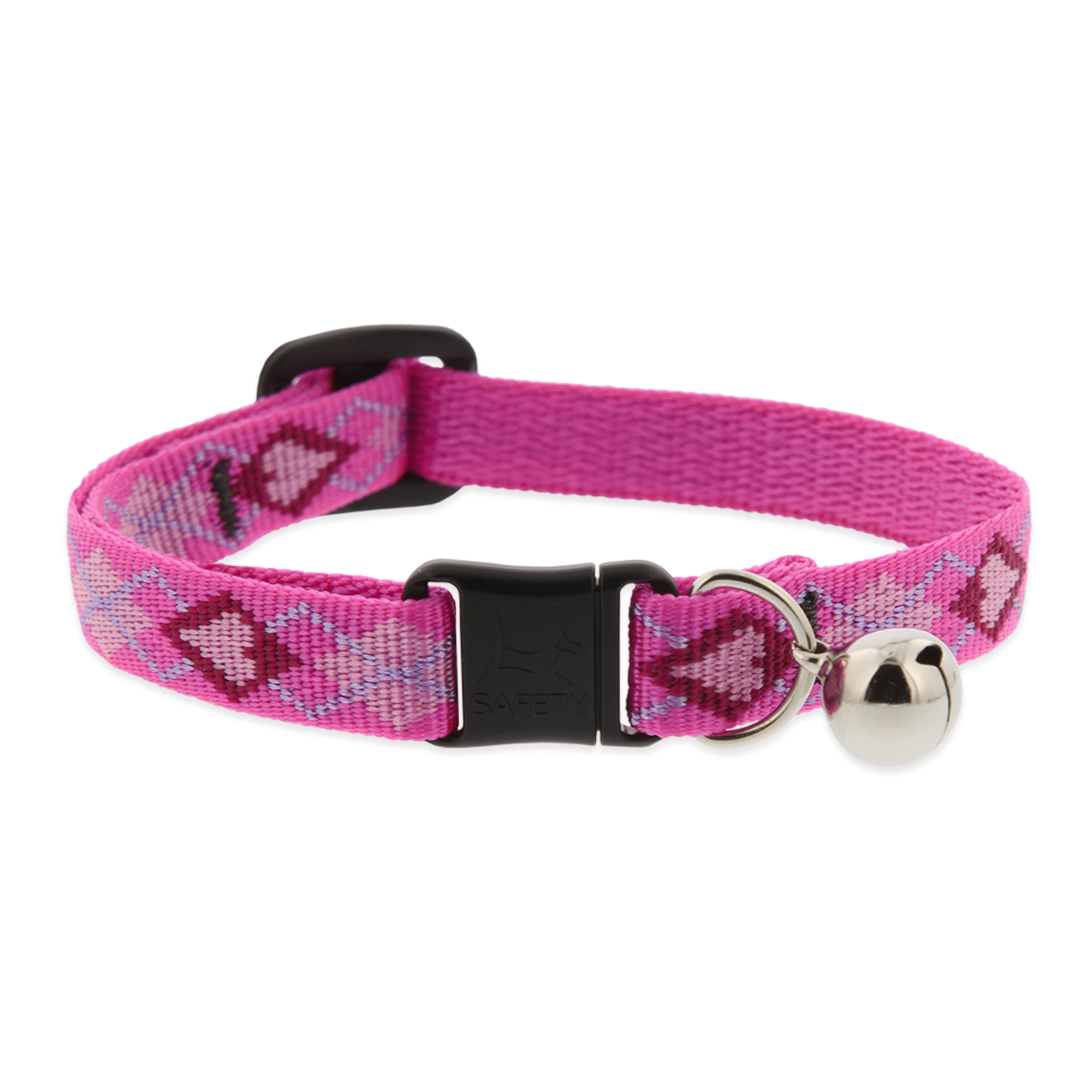 1/2in Puppy Love Cat w/ bell 8-12 Adj. Collar