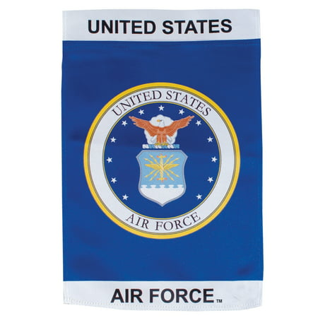 In the Breeze U.S. Air Force Emblem Lustre Garden Flag - Double Sided Military Service Flag - Flags In Bulk