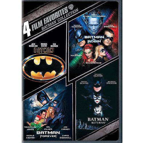 4 Film Favorites: Batman   Batman Returns   Batman Forever   Batman And Robin (DVD) by WARNER HOME ENTERTAINMENT