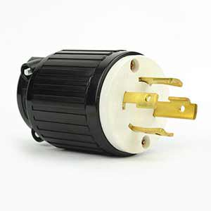 Superior Electric YGA025 Twist Lock Electrical Plug 4 Wire, 30 Amps, 125/250V, NEMA L14-30P - YGA025