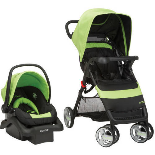 Cosco Simple Fold Travel System, Bright Lime