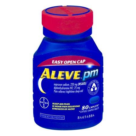 Aleve Pm Soft Grip Arthritis Cap Caplet  Pain Reliever Sleep Aid  80Ct