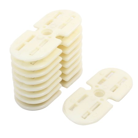 Unique Bargains 9 Pcs Plastic Beige Oval Shape Coil Wire Winding Mold Head for Washing -