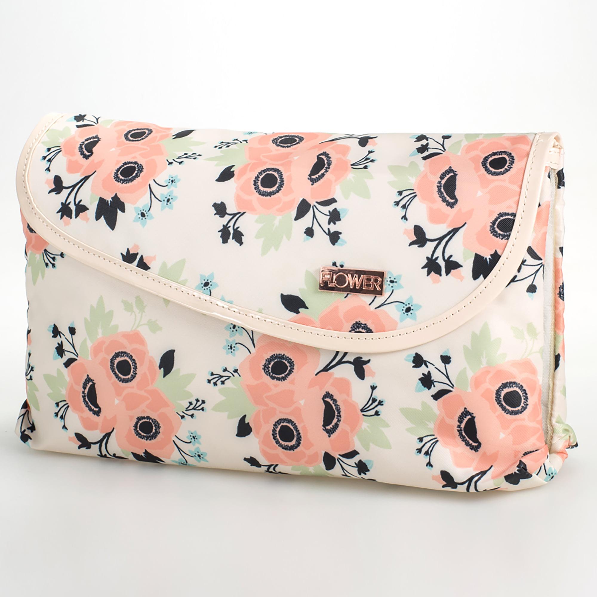 Flower Cosmetics In Bloom Double Zip Foldover Bag