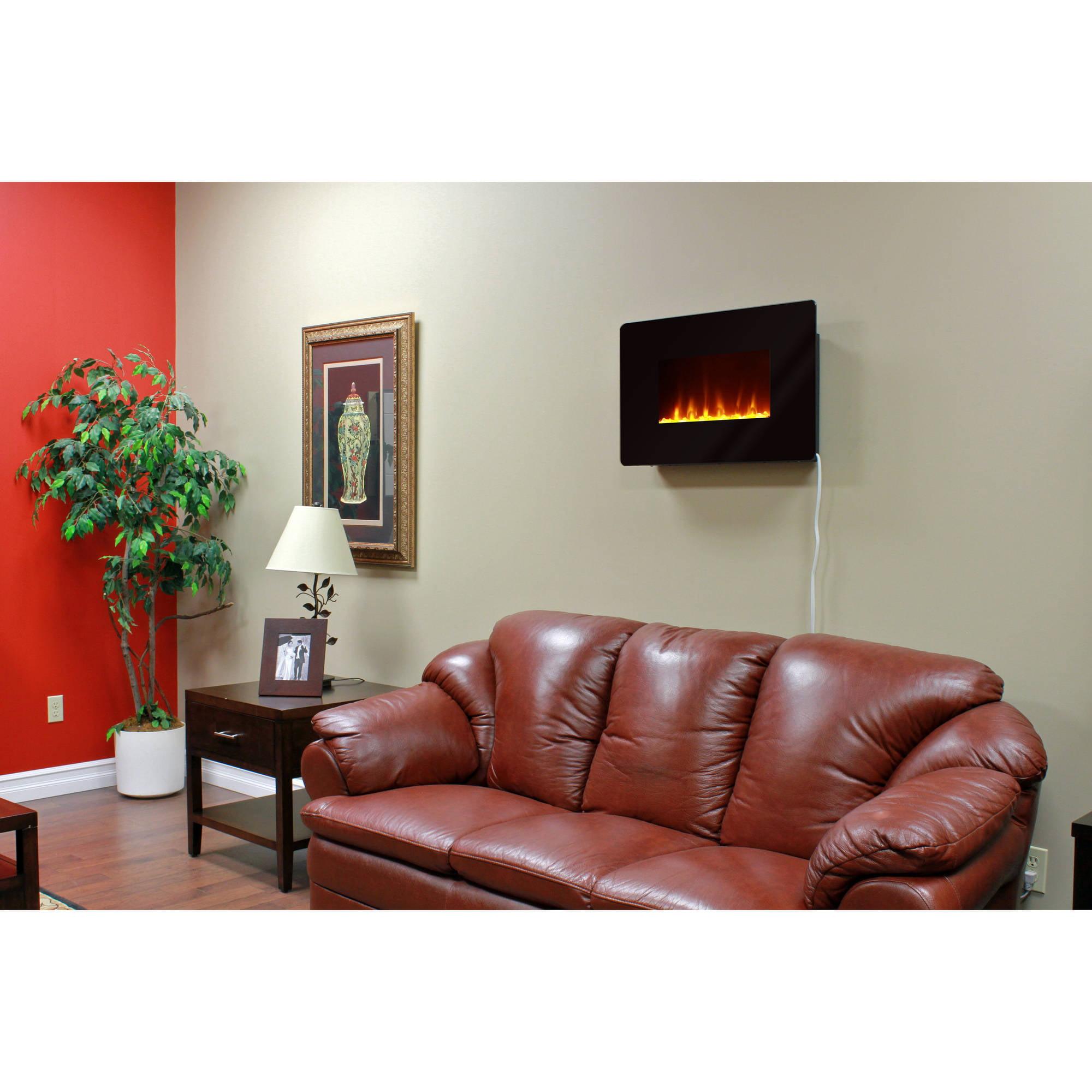 muskoka mh25bl corrida wall mount fireplace walmart com