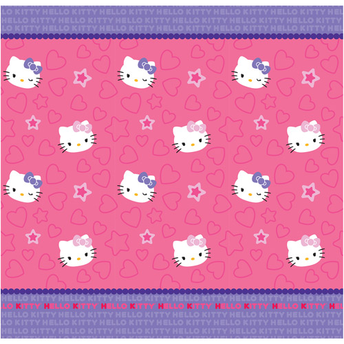 Hello Kitty Kitty & Me Fabric Shower Curtain