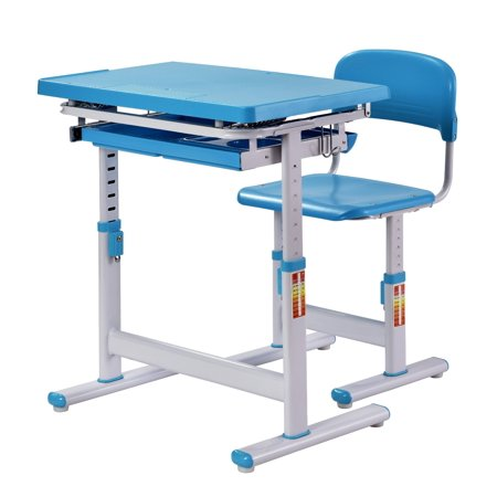 Muscle Rack Ergonomic Adjustable Kids Desk Blue