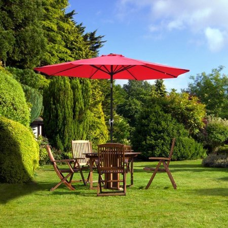 Ktaxon 9 Foot Waterproof Folding Garden Patio Umbrella Sunshade Red ()