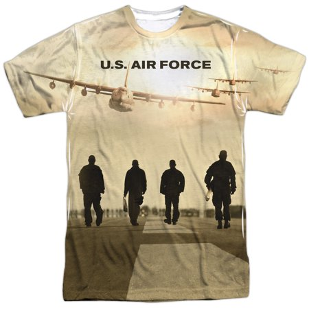 - US Armed Forces Air Force USAF Runway Walk Adult 2-Sided Print T-Shirt