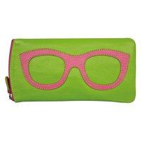 "Women's Leather Eyeglasses Case - Zipper Close - 7"" x 4"""