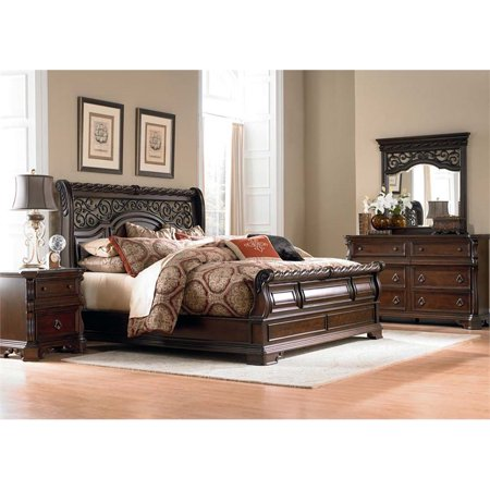 Liberty Furniture Arbor Place 4 Piece King Sleigh Bedroom Set