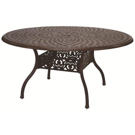 Darlee 59 Round Patio Dining Table Antique Bronze