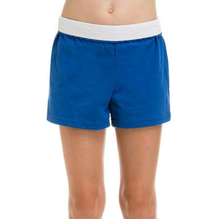 Soffe Girls' Cheer Shorts Royal M