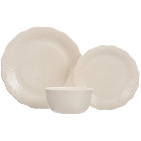 Sango Contempo Cream 16-piece Dinnerware Set - Walmart.com