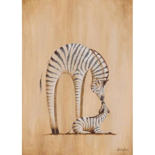 Oopsy Daisy's Safari Kisses Zebra Canvas Wall Art, 10x14