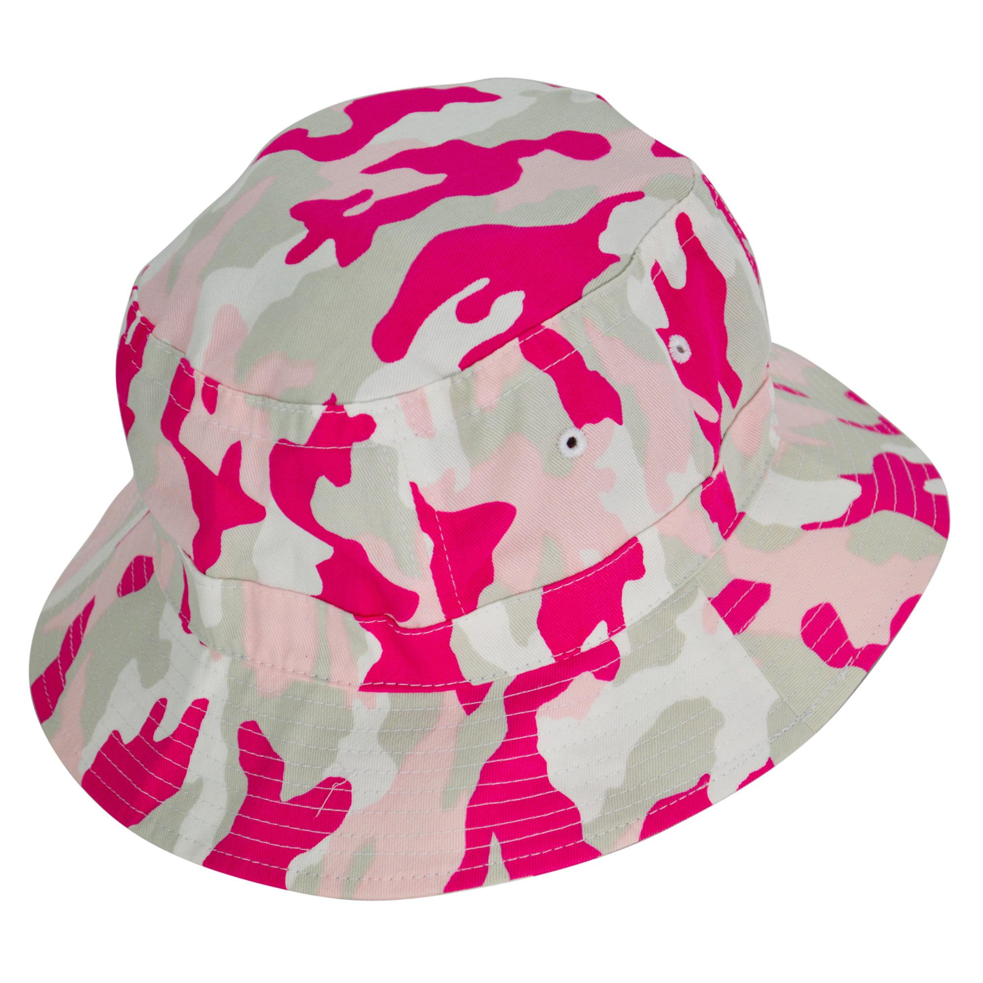 DALIX Pink Camouflage Washed Cotton Bucket Hat -Extra Large 7 3/8 ...
