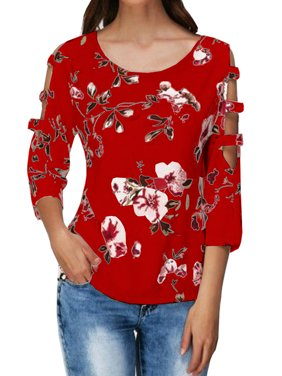 bcfb8f88a Product Image 3/4 Sleeve Print Women Tops Tee