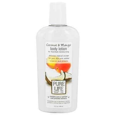 Pure Life Body Lotion, Coconut and Mango, 14.9 fl Oz