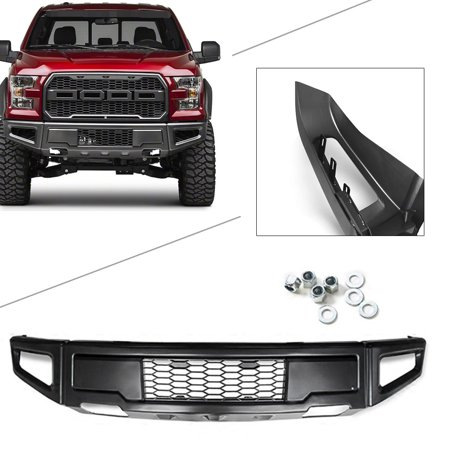 GZYF ABS Raptor Style Grey Steel Front Bumper Assembly Kit For Ford F-150 2015 2016 (2015 Ford F 150 Raptor Release Date)