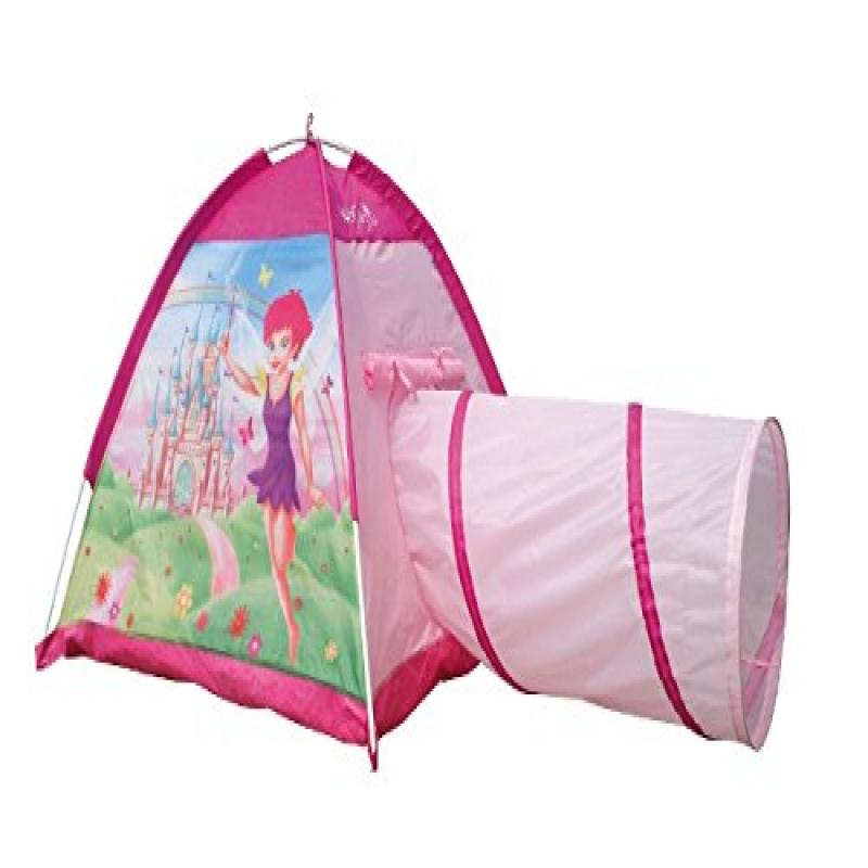 Fairy Adventure Castle 2pc Princess Playhouse Pink Tunnel Dome Girl Play Tent