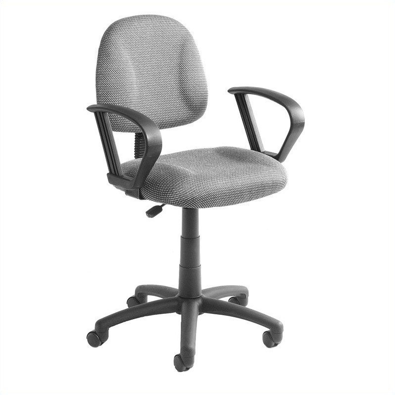 Boss Office Products Deluxe Posture Office Chair with Loop Arms-Black - image 1 de 6