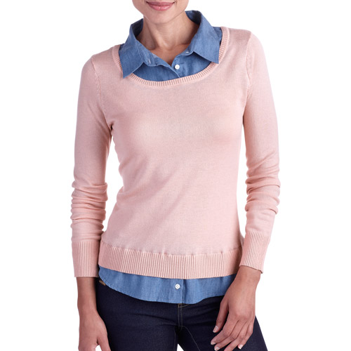 Women's Career Essential Scoop 2-Fer Sweater