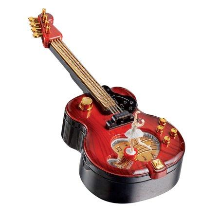 Guitar Music Box and Storage with Ballerina