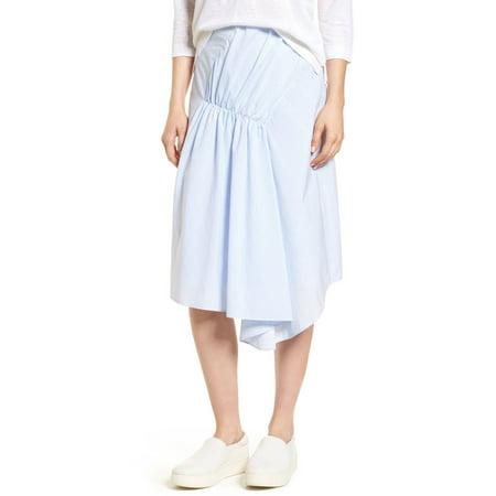 Nordstrom Signature Womens Striped Asymmetrical Skirt